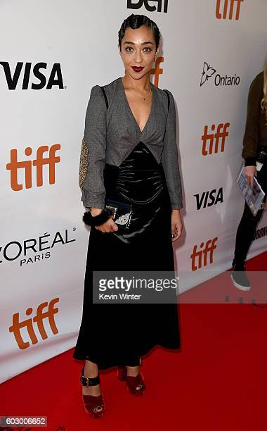 Actress Ruth Negga attends the 'Loving' premiere during the 2016 Toronto International Film Festival at Roy Thomson Hall on September 11 2016 in...