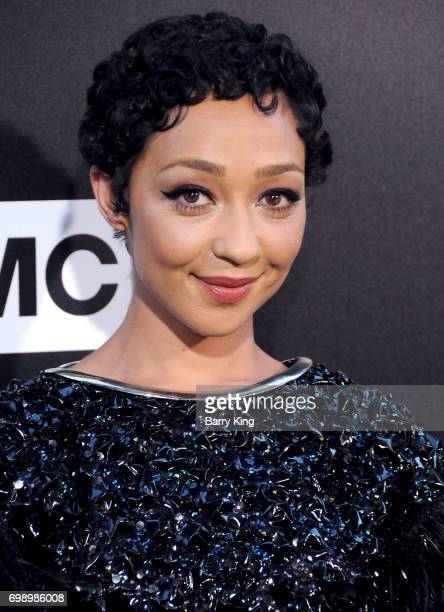 Actress Ruth Negga attends the Premiere of AMC's 'Preacher' Season 2 at The Theatre at Ace Hotel on June 20 2017 in Los Angeles California