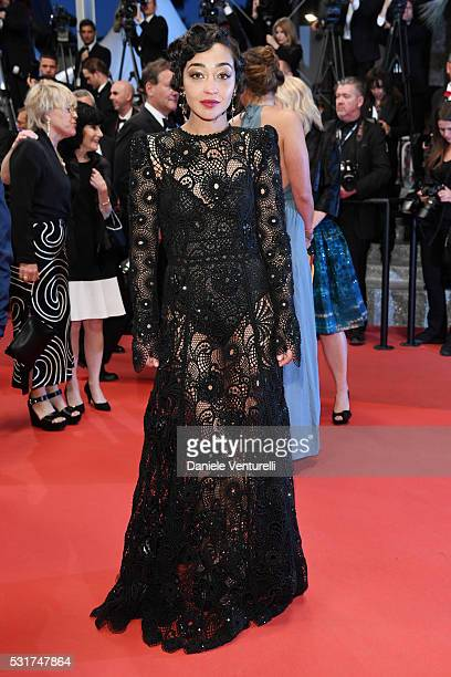 Actress Ruth Negga leaves the 'Loving' premiere during the 69th annual Cannes Film Festival at the Palais des Festivals on May 16 2016 in Cannes...