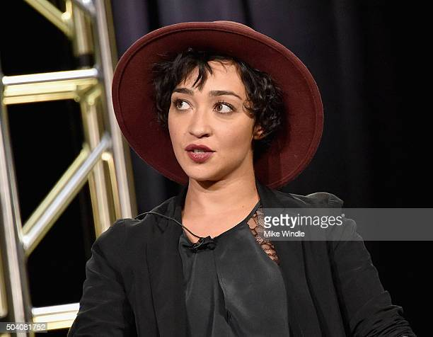 Actress Ruth Negga speaks onstage during the AMC Winter TCA Press Tour 2016 'Preacher' panel at The Langham Huntington Hotel and Spa on January 8...