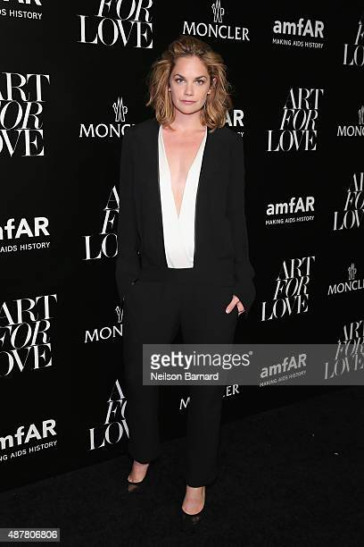 Actress Ruth Wilson attends a private viewing and dinner for Art For Love 32 Photographers Interpret The Iconic Moncler Maya Jacket hosted by Remo...