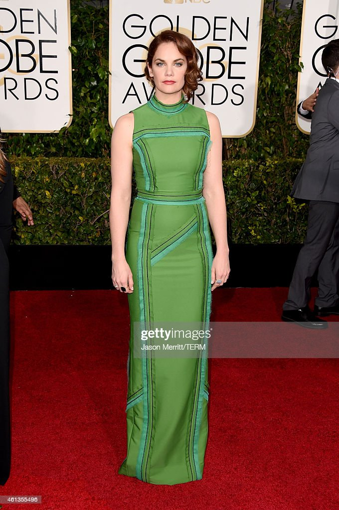 Actress <a gi-track='captionPersonalityLinkClicked' href=/galleries/search?phrase=Ruth+Wilson&family=editorial&specificpeople=3111655 ng-click='$event.stopPropagation()'>Ruth Wilson</a> attends the 72nd Annual Golden Globe Awards at The Beverly Hilton Hotel on January 11, 2015 in Beverly Hills, California.