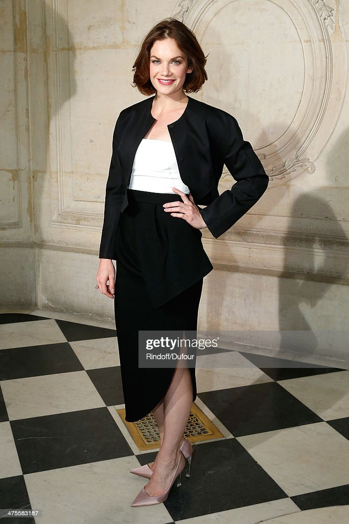 Actress <a gi-track='captionPersonalityLinkClicked' href=/galleries/search?phrase=Ruth+Wilson&family=editorial&specificpeople=3111655 ng-click='$event.stopPropagation()'>Ruth Wilson</a> attends the Christian Dior show as part of the Paris Fashion Week Womenswear Fall/Winter 2014-2015 on February 28, 2014 in Paris, France.