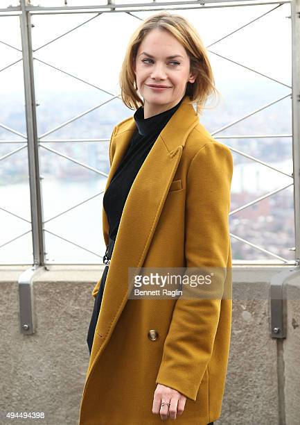 Actress Ruth Wilson lights the Empire State Building for Only Make Believe in Honor of Make Believe on Broadway 2015 Gala at The Empire State...