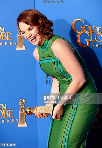 Actress Ruth Wilson poses in the press room during the 72nd Annual Golden Globe Awards at The Beverly Hilton Hotel on January 11 2015 in Beverly...