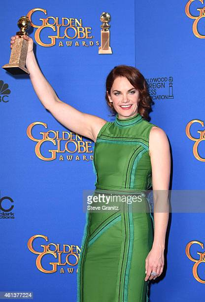 Actress Ruth Wilson winner of Best Actress in a Television Series Drama for 'The Affair' poses in the press room during the 72nd Annual Golden Globe...