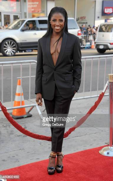 Actress Rutina Wesley arrives at HBO's 'True Blood' final season premiere at TCL Chinese Theatre on June 17 2014 in Hollywood California