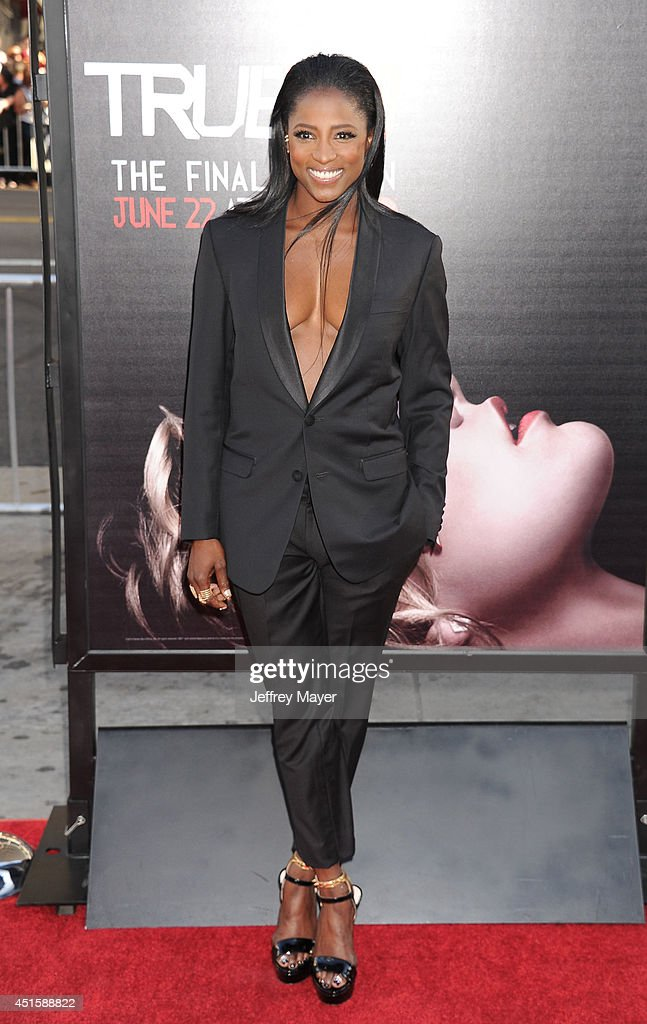 Actress <a gi-track='captionPersonalityLinkClicked' href=/galleries/search?phrase=Rutina+Wesley&family=editorial&specificpeople=4052226 ng-click='$event.stopPropagation()'>Rutina Wesley</a> arrives at HBO's 'True Blood' final season premiere at TCL Chinese Theatre on June 17, 2014 in Hollywood, California.