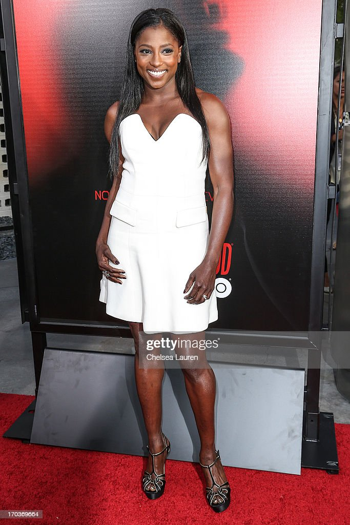 Actress Rutina Wesley arrives at HBO's 'True Blood' season 6 premiere at ArcLight Cinemas Cinerama Dome on June 11, 2013 in Hollywood, California.