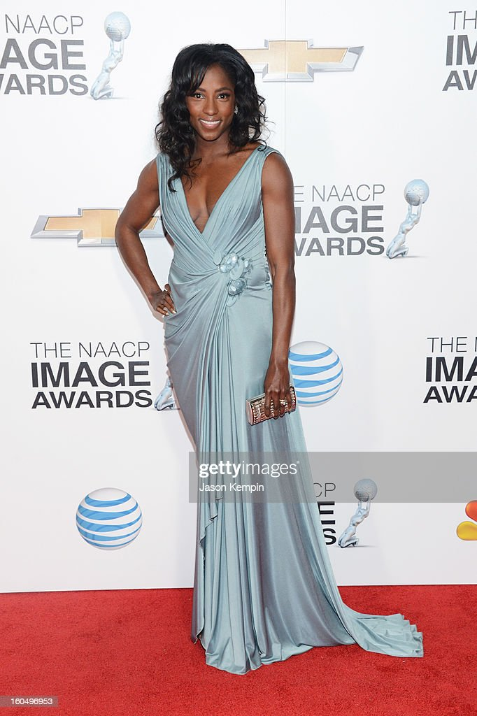 Actress Rutina Wesley arrives at the 44th NAACP Image Awards held at The Shrine Auditorium on February 1, 2013 in Los Angeles, California.