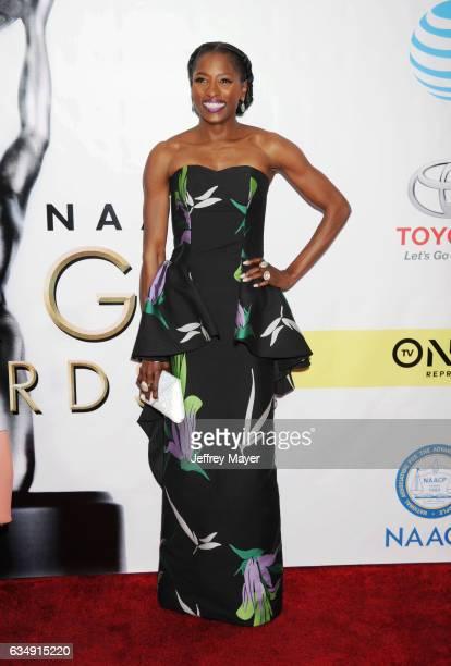 Actress Rutina Wesley arrives at the 48th NAACP Image Awards at Pasadena Civic Auditorium on February 11 2017 in Pasadena California