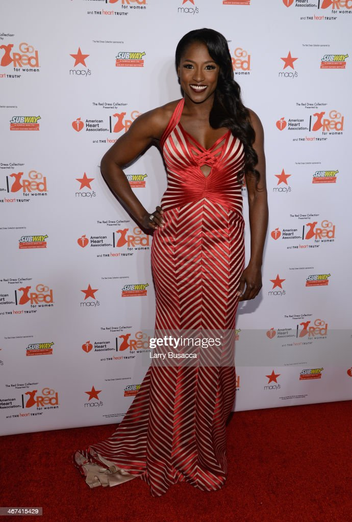 Actress Rutina Wesley attends Go Red For Women The Heart Truth Red Dress Collection 2014 Show Made Possible By Macy's And SUBWAY Restaurants at The Theatre at Lincoln Center on February 6, 2014 in New York City.