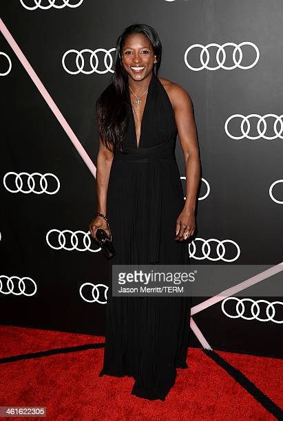 Actress Rutina Wesley attends Golden Globes Weekend Audi Celebration at Cecconi's on January 9 2014 in Beverly Hills California