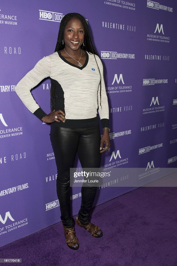 Actress <a gi-track='captionPersonalityLinkClicked' href=/galleries/search?phrase=Rutina+Wesley&family=editorial&specificpeople=4052226 ng-click='$event.stopPropagation()'>Rutina Wesley</a> attends the Los Angeles premiere screening of 'Valentine Road' at The Museum of Tolerance on September 24, 2013 in Los Angeles, California.