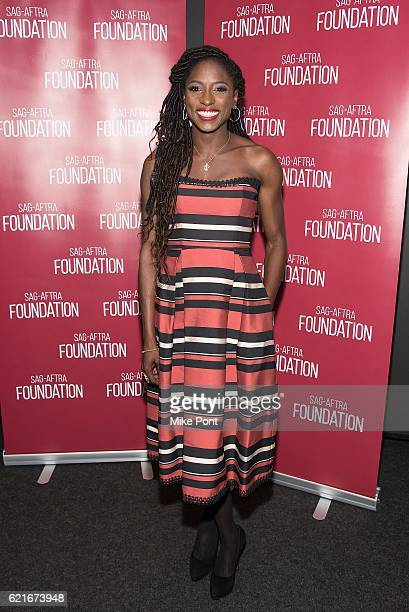 Actress Rutina Wesley attends the SAGAFTRA Foundation Conversations with the Cast of 'Queen Sugar' at The Robin Williams Center on November 7 2016 in...