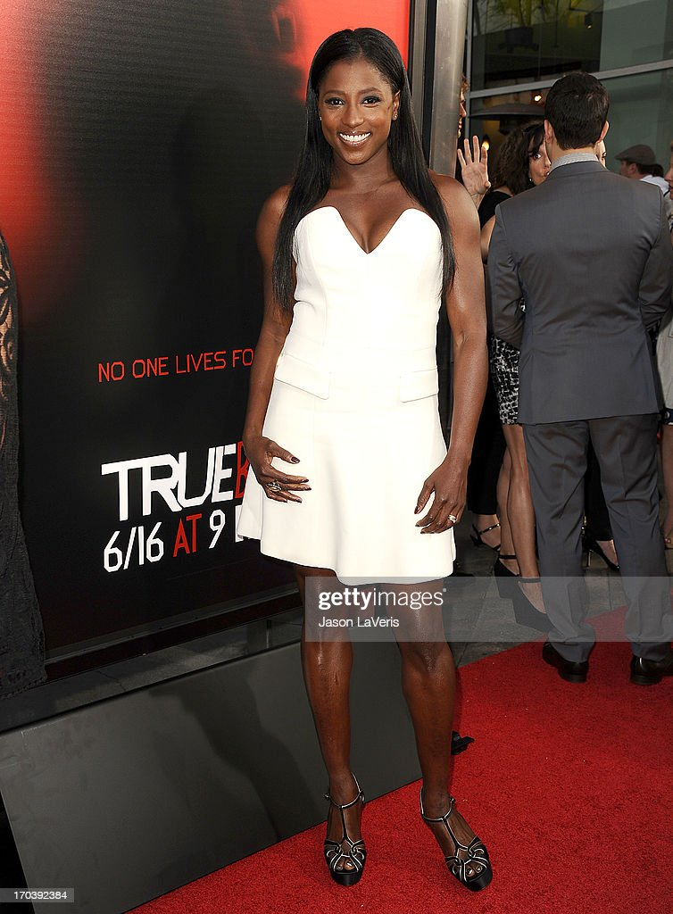 Actress Rutina Wesley attends the season 6 premiere of HBO's 'True Blood' at ArcLight Cinemas Cinerama Dome on June 11, 2013 in Hollywood, California.