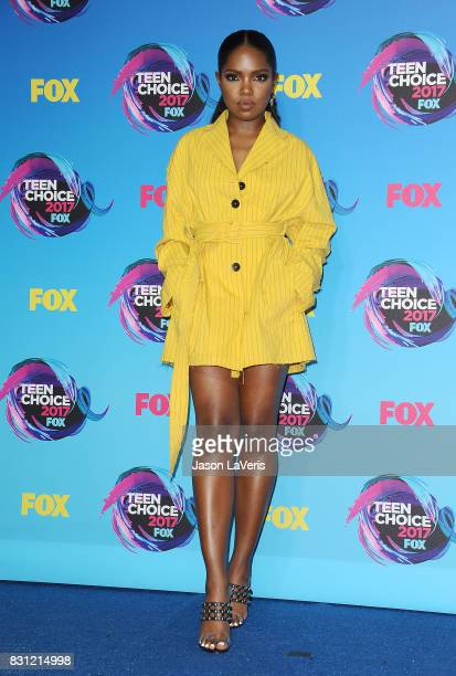 Actress Ryan Destiny poses in the press room at the 2017 Teen Choice Awards at Galen Center on August 13 2017 in Los Angeles California