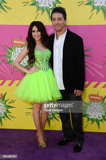Actress Ryan Newman and actor Scott Baio arrive at Nickelodeon's 26th Annual Kids' Choice Awards at USC Galen Center on March 23 2013 in Los Angeles...