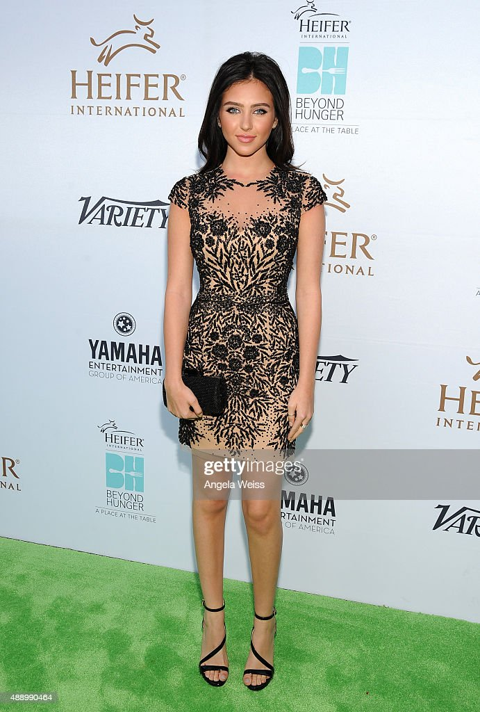 Actress Ryan Newman attends Heifer International's 4th Annual Beyond Hunger Gala at the Montage on September 18 2015 in Beverly Hills California...