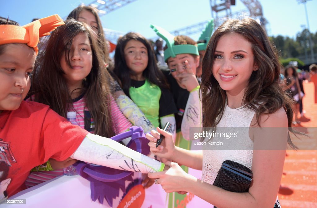 Actress <a gi-track='captionPersonalityLinkClicked' href=/galleries/search?phrase=Ryan+Newman+-+Actress&family=editorial&specificpeople=12773551 ng-click='$event.stopPropagation()'>Ryan Newman</a> attends Nickelodeon Kids' Choice Sports Awards 2014 at UCLA's Pauley Pavilion on July 17, 2014 in Los Angeles, California.