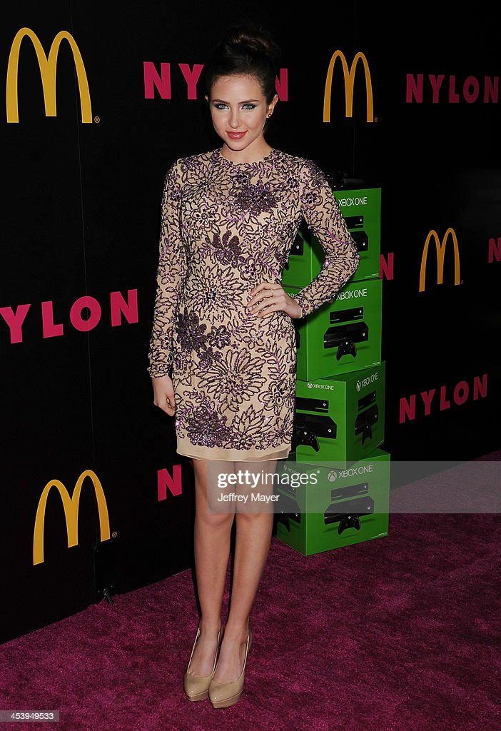 Actress Ryan Newman attends NYLON + McDonald's Dec/Jan issue launch party, hosted by cover star Demi Lovato at Quixote Studios on December 5, 2013 in West Hollywood, California.