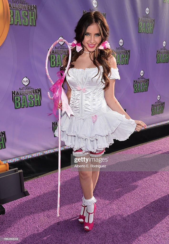 Actress Ryan Newman attends the Hub Network's 1st Annual Halloween Bash at Barker Hangar on October 20, 2013 in Santa Monica, California.
