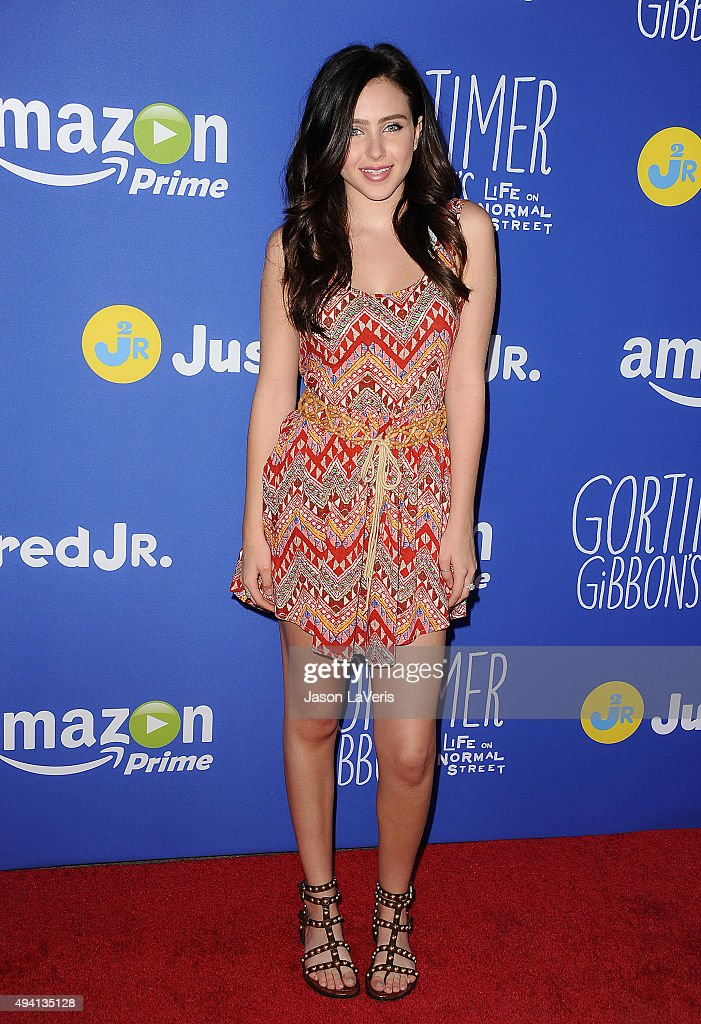 Actress Ryan Newman attends the Just Jared fall fun day on October 24 2015 in Los Angeles California