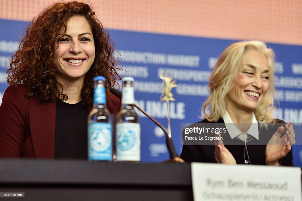 Actress Rym Ben Messaoud and producer Dora Bouchoucha Fourati attend the 'Inhebbek Hedi' press conference during the 66th Berlinale International Film Festival Berlin at Grand Hyatt Hotel on February 12, 2016 in Berlin, Germany.