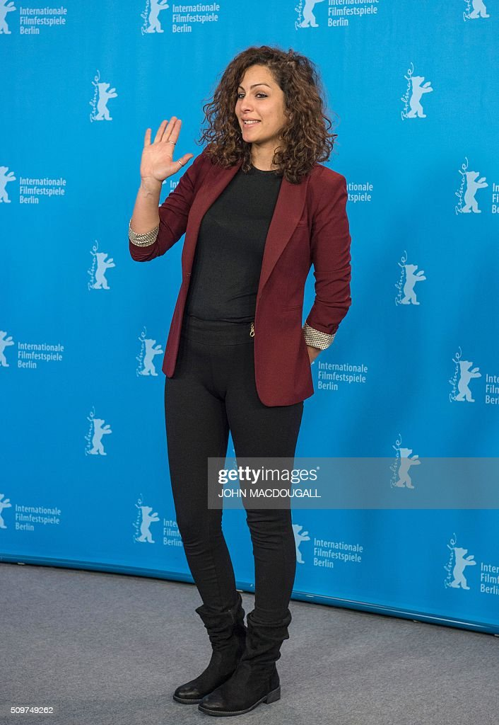 Actress Rym Ben Messaoud poses during a photocall for the Tunisian film ' Inhebbek Hedi ' (Hedi) during the Berlinal Film Festival in Berlin on February 12, 2016. / AFP / John MACDOUGALL