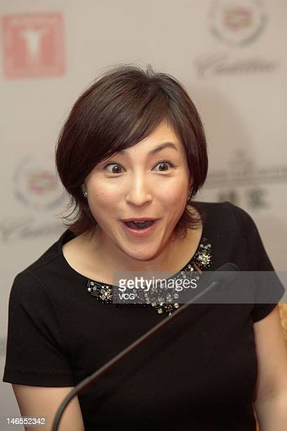 Actress Ryoko Hirosue attends 'Key of Life' press conference during the 15th Shanghai International Film Festival at Shanghai Film Art Center on June...