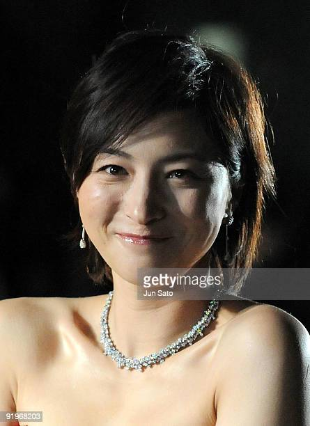 Actress Ryoko Hirosue attends the 22nd Tokyo International Film Festival Opening Ceremony at Roppongi Hills on October 17 2009 in Tokyo Japan TIFF...