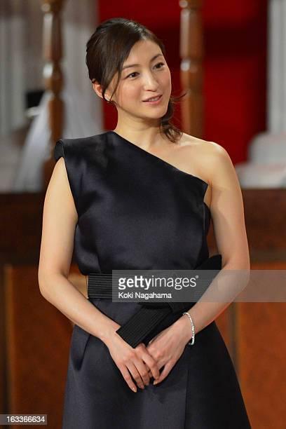 Actress Ryoko Hirosue attends the 36th Japan Academy Prize Award Ceremony at Grand Prince Hotel Shin Takanawa on March 8 2013 in Tokyo Japan