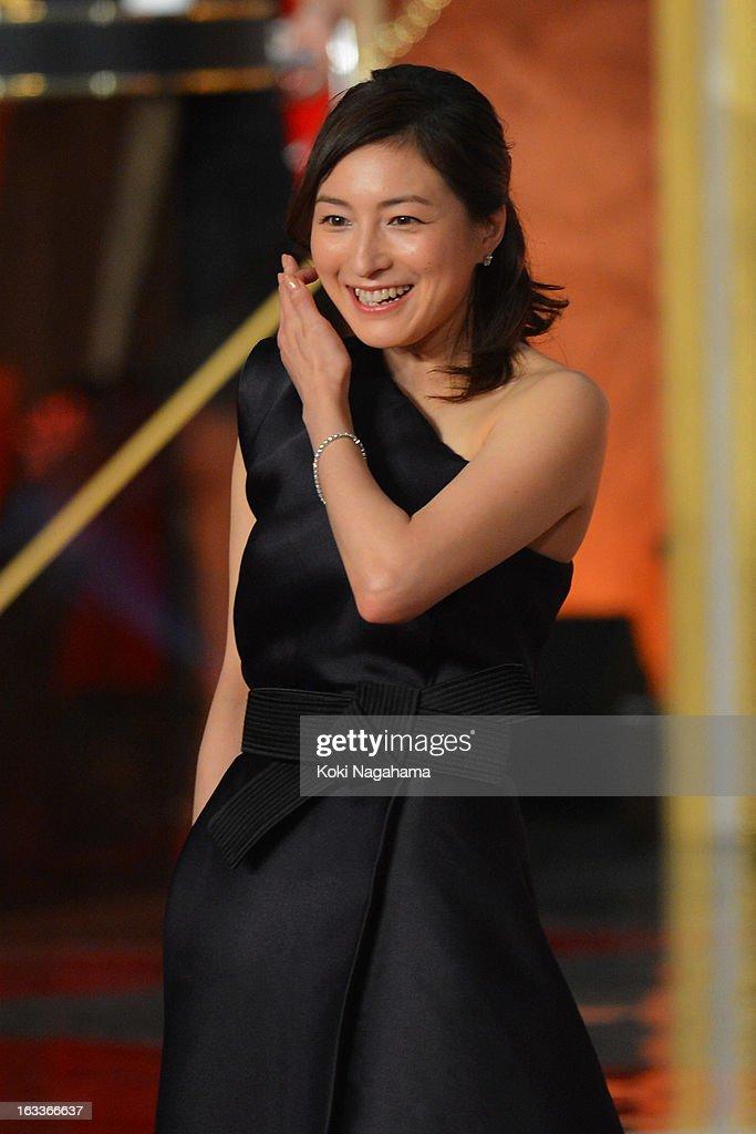 Actress Ryoko Hirosue attends the 36th Japan Academy Prize Award Ceremony at Grand Prince Hotel Shin Takanawa on March 8, 2013 in Tokyo, Japan.