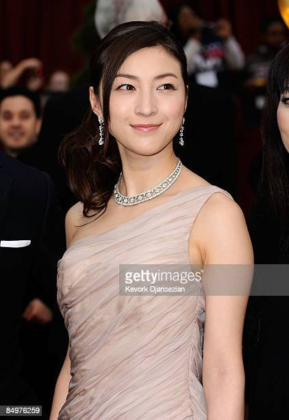 Actress Ryoko Hirosue from the film 'Departures' arrives at the 81st Annual Academy Awards held at Kodak Theatre on February 22 2009 in Los Angeles...