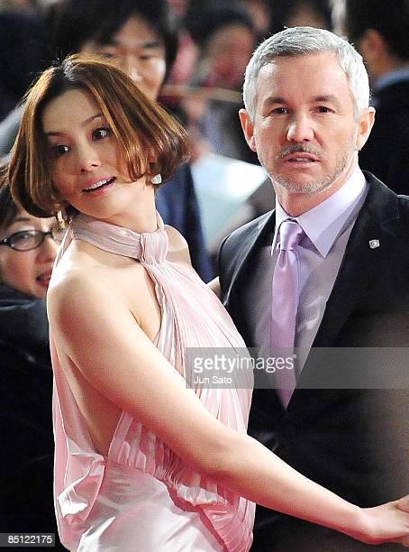Actress Ryoko Yonekura and director Baz Luhrmann attend the 'Australia' Japan Premiere at Toho Cinemas Nichigeki on February 26 2009 in Tokyo Japan...