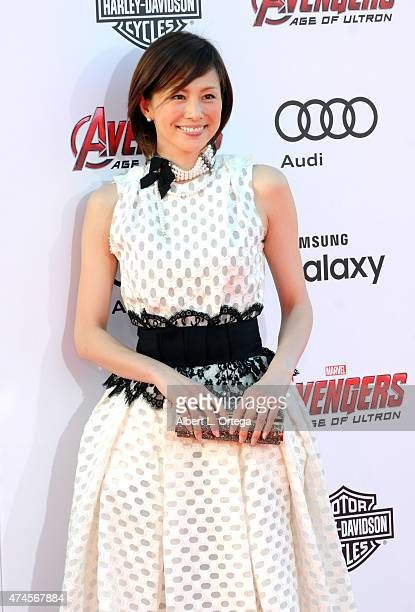 Actress Ryoko Yonekura arrives for the Premiere Of Marvel's 'Avengers Age Of Ultron' held at Dolby Theatre on April 13 2015 in Hollywood California
