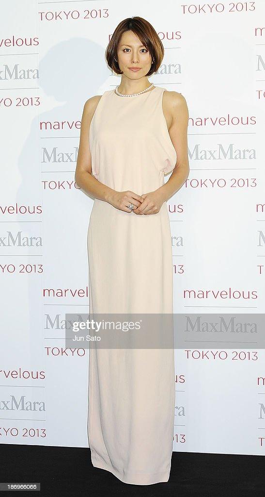 Actress Ryoko Yonekura attends a photocall of Marvelous Max Mara Tokyo 2013 at Ryogoku Kokugikan on November 5, 2013 in Tokyo, Japan.