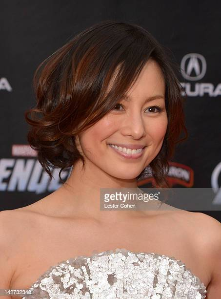 Actress Ryoko Yonekura attends the Los Angeles premiere of 'Marvel's Avengers' at the El Capitan Theatre on April 11 2012 in Hollywood California