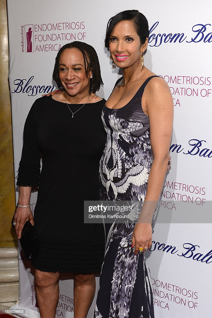 Actress S Epatha Merkerson and TV Personality Padma Lakshmi attend The Endometriosis Foundation of America's Celebration of The 5th Annual Blossom Ball at Capitale on March 11, 2013 in New York City.