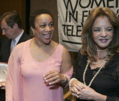 Actress S Epatha Merkerson left and Stockard Channing