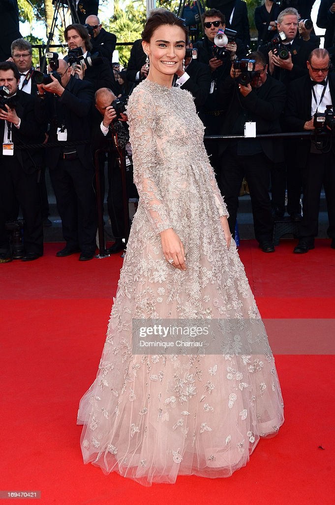 Actress Saadet Aksoy attends the Premiere of 'La Venus A La Fourrure' during The 66th Annual Cannes Film Festival at Palais des Festivals on May 25, 2013 in Cannes, France.