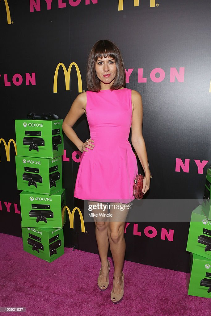 Actress Sabina Akhmedova attends NYLON + McDonald's Dec/Jan issue launch party, hosted by cover star Demi Lovato on December 5, 2013 in West Hollywood, California.