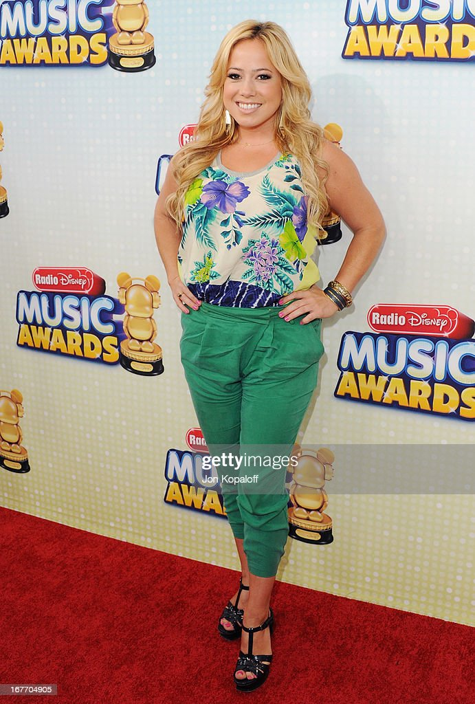 Actress Sabrina Bryan arrives at the 2013 Radio Disney Music Awards at Nokia Theatre L.A. Live on April 27, 2013 in Los Angeles, California.