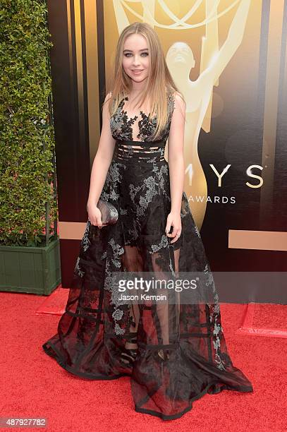Actress Sabrina Carpenter attends the 2015 Creative Arts Emmy Awards at Microsoft Theater on September 12 2015 in Los Angeles California