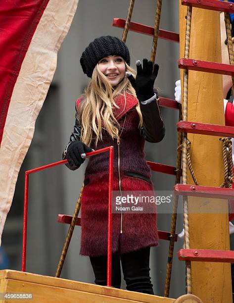 Actress Sabrina Carpenter attends the 88th Annual Macys Thanksgiving Day Parade at on November 27 2014 in New York New York