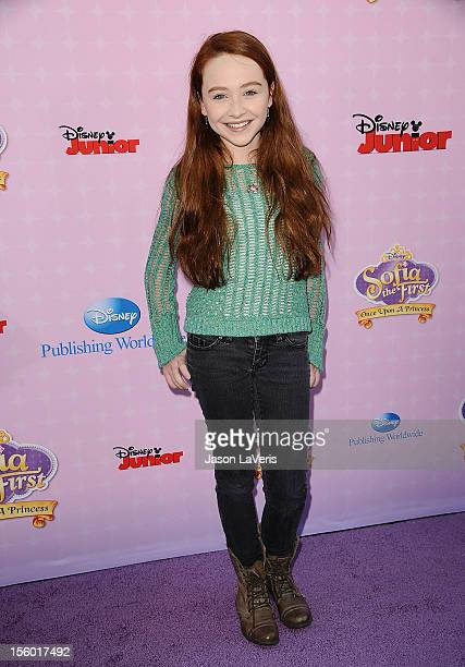 Actress Sabrina Carpenter attends the premiere of 'Sofia The First Once Upon a Princess' at Walt Disney Studios on November 10 2012 in Burbank...