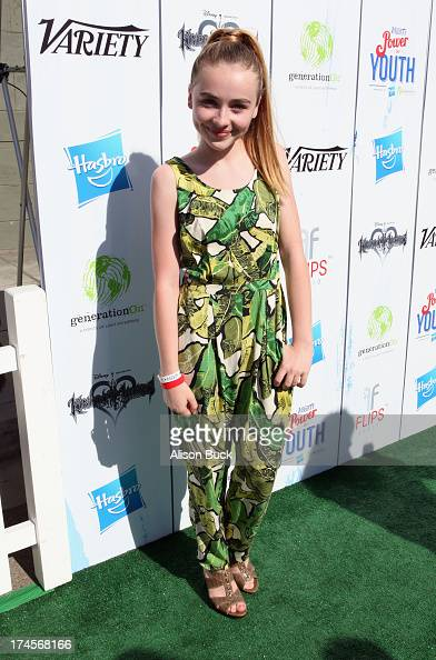 Actress Sabrina Carpenter attends Variety's Power of Youth presented by Hasbro Inc and generationOn at Universal Studios Backlot on July 27 2013 in...