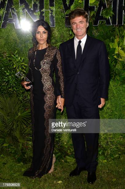 Actress Sabrina Ferilli and Flavio Cattaneo attend Vanity Fair Celebrate 10th Anniversary during the 70th Venice International Film Festival at...