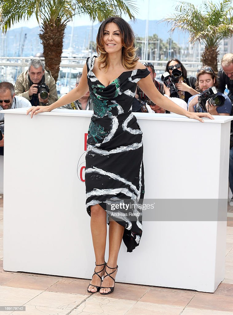 Actress Sabrina Ferilli attends the 'La Grande Bellezza' Photocall during The 66th Annual Cannes Film Festival at the Palais des Festivals on May 21...