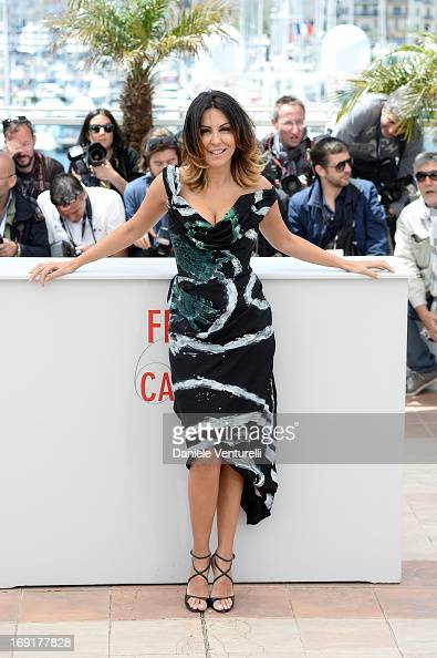 Actress Sabrina Ferilli attends the photocall for 'La Grande Bellezza' during the 66th Annual Cannes Film Festival at Palais des Festivals on May 21...